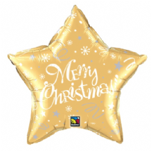 "Christmas Foil Balloon - Christmas Gold Star (20"") 1pc"